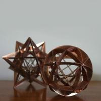Copper platonic sculptures