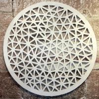 Merino wool felt wall sculpture